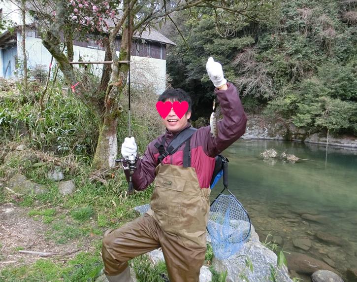 嘉瀬川・三瀬のヤマメ