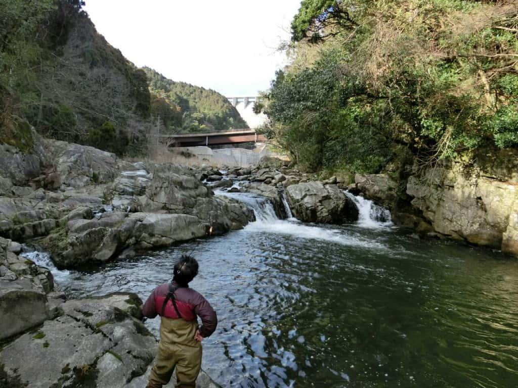富士町の嘉瀬川ダム河畔公園