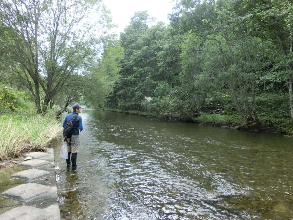 石狩川支流比布川