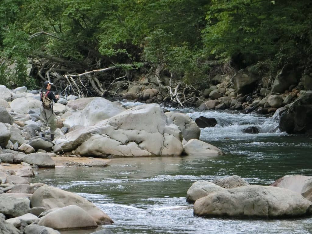 雫石葛根田川渓流釣り