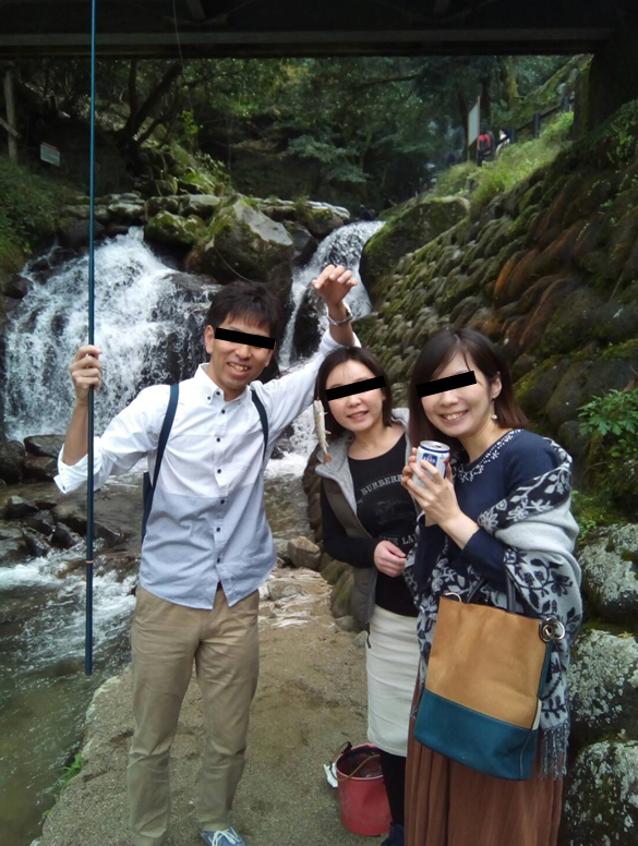 福岡白糸の滝ヤマメ釣り