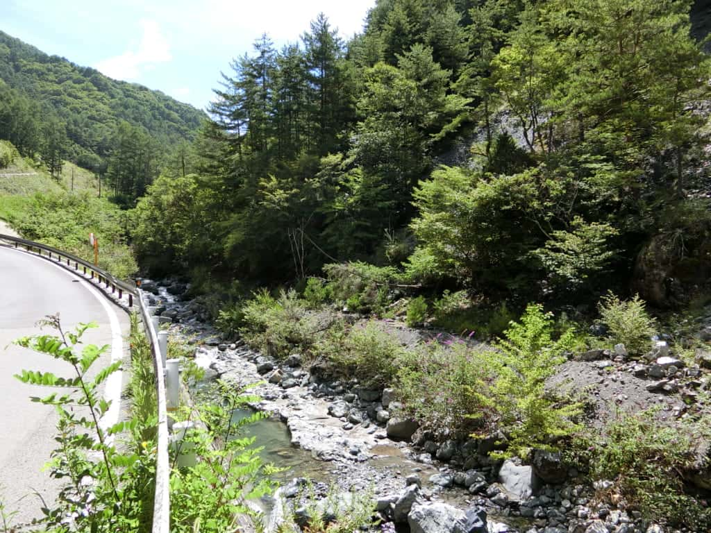 大鹿村塩川渓流釣り