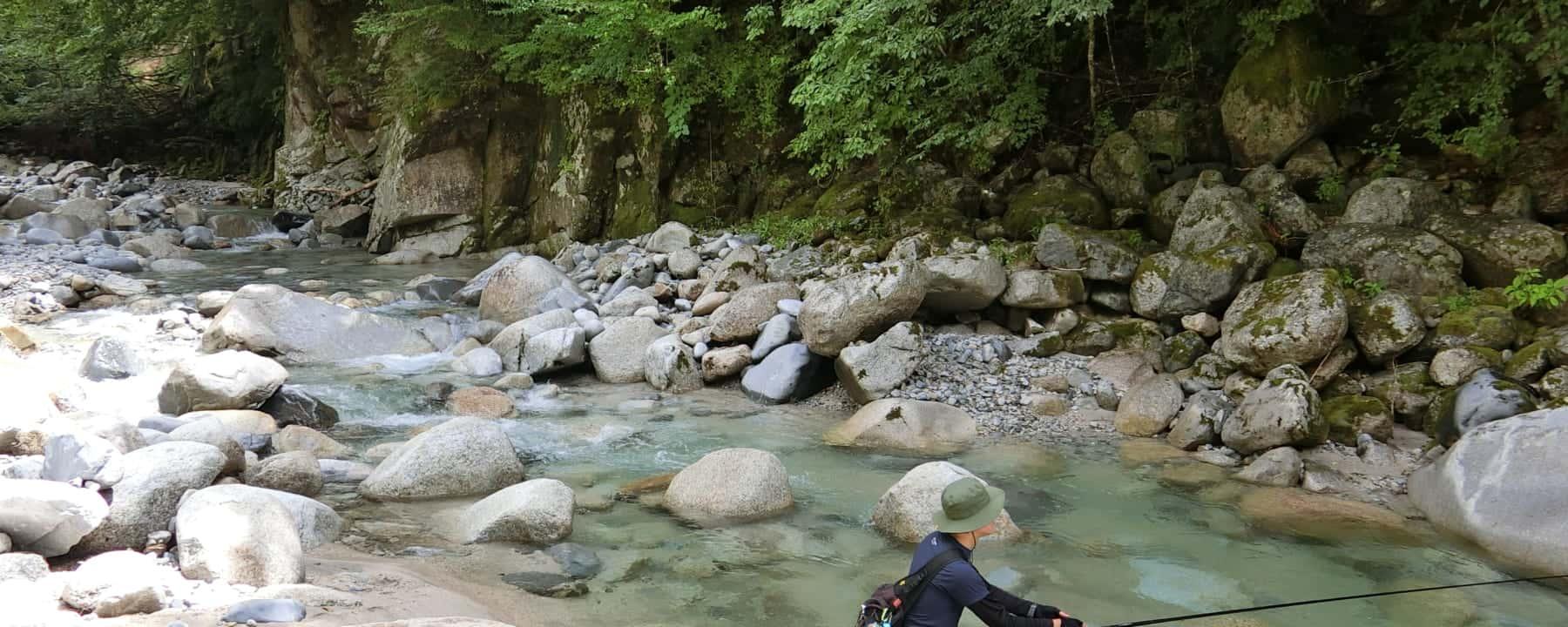 飯田松川入でイワナ渓流釣り