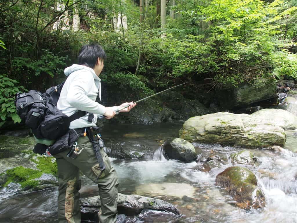 滋賀県姉川イワナ渓流釣り