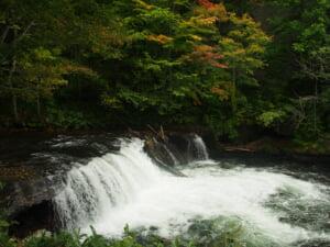 斜里川さくらの滝