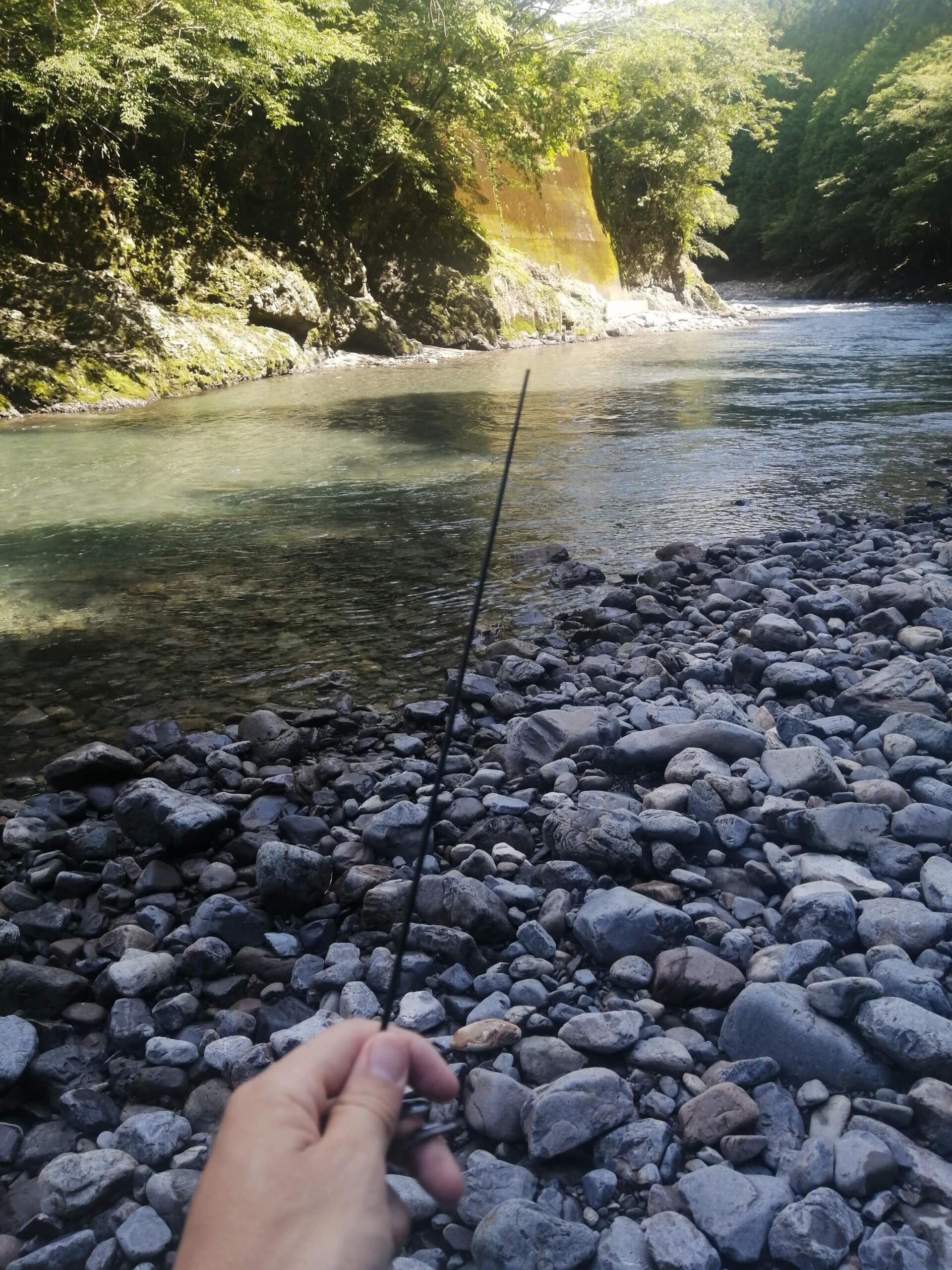 日高川アマゴ渓流釣り